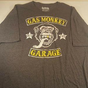 Gas Monkey Garage Men 3XL Gray Tee Short Sleeve